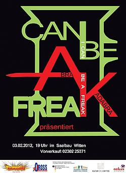 "Plakat ""I can be a Freak"""